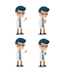 Doctor cartoon character collection set vector