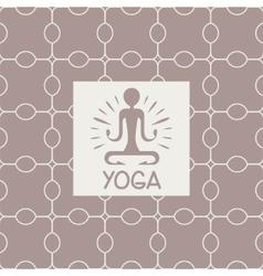 Enlightenment yoga studio design card vector