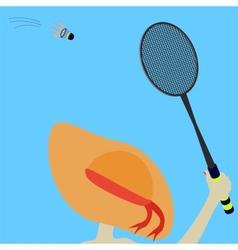 girl and badminton vector image