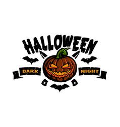 halloween dark night emblem vector image vector image