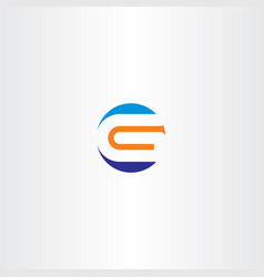 letter g logo orange blue icon sign vector image