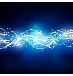 Lightning background Energy flow vector image