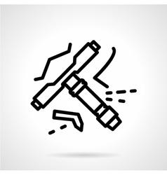 Longboard tool line icon vector