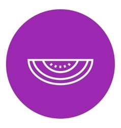 Melon line icon vector