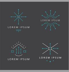 Modern vintage minimal logo vector