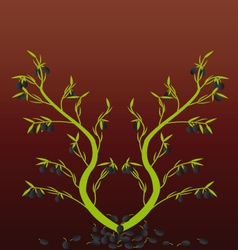 olive Tree with the background vector image
