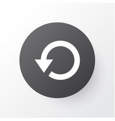 Replay icon symbol premium quality isolated vector