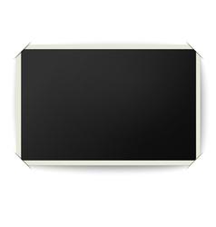 Retro photo frame with straight edges vector