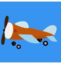 Retro plane toy vector image