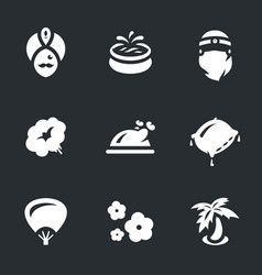 Set of arabic harem icons vector