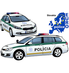 Slovakia police car vector