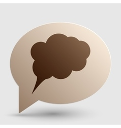 Speach bubble sign Brown gradient vector image vector image