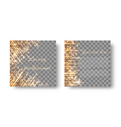 square background with shiny sparkles vector image vector image