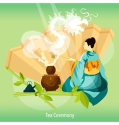 Tea ceremony background vector