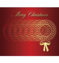 Wreath christmas vector