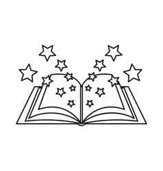 Magic book icon outline style vector