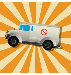 The fantastic armored truck vector