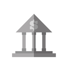Building bank money finance flat icon vector