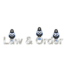 Law and order uk vector