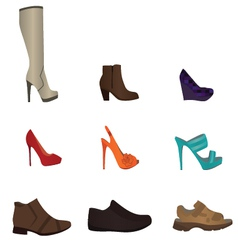 Set of male and female shoes vector image