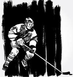 Hockey player6 vector