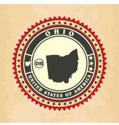 Vintage label-sticker cards of ohio vector
