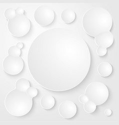 Round plates abstract seamless background vector