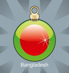 Bangladesh flag on bulb vector
