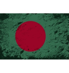 Bangladesh flag grunge background vector