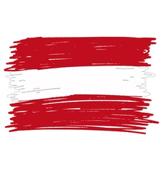 Flag of austria handmade vector