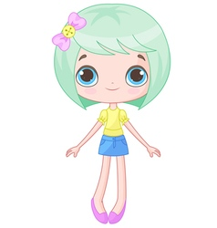 Cute doll vector