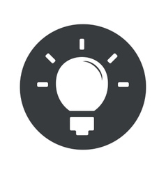 Monochrome round light bulb icon vector