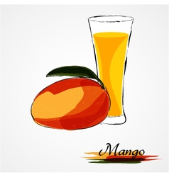 Mango juice vector