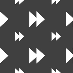 Rewind icon sign seamless pattern on a gray vector