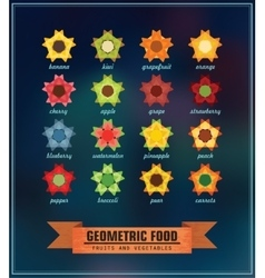 Set of geometric food vector