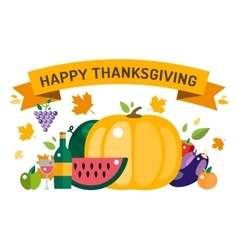 Thanksgiving day card vector