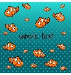 Striped orange fish with space for text vector