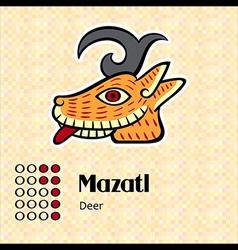 Aztec symbol mazatl vector