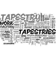 A significant account of tapestries text word vector