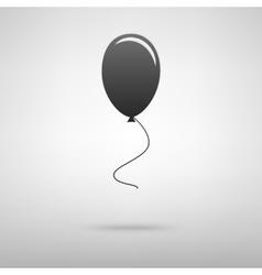 Balloon black icon vector