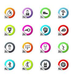 Basketball icons set vector