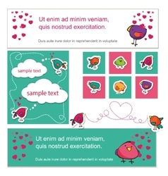 Bird lovers on Valentine s Day vector image vector image