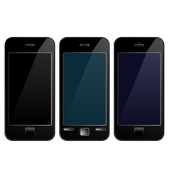 Black mobile phone smartphone vector