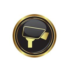 Camera icon button gold copy vector