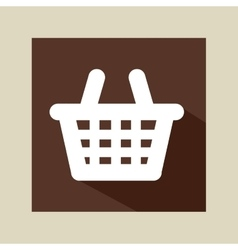Cartoon red basket e-commerce online icon vector