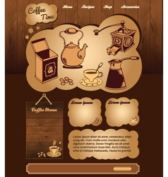 Coffee web template vector image vector image