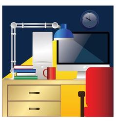 desktop workstation colorful vector image vector image