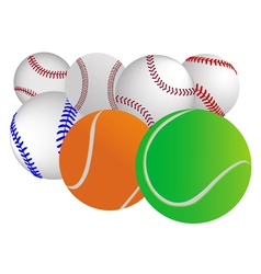 different balls vector image vector image