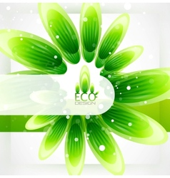 eco-friendly nature background vector image vector image
