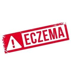 Eczema rubber stamp vector image